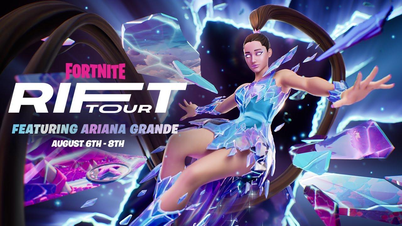 Ariana Grandeがフォートナイト内でのバーチャル・ライブ「Rift Tour」を8月7日より開催