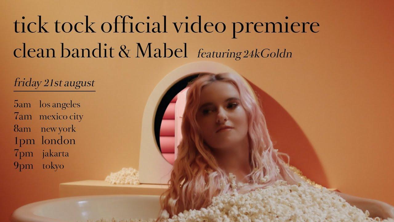 Clean BanditとMabelが24kGoldnを迎えた新曲「Tick Tock」のミュージック・ビデオを公開