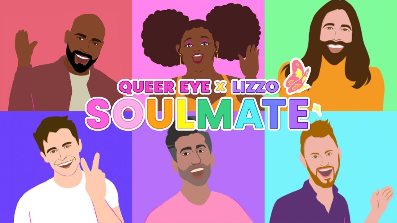 Lizzoがクィア・アイのキャストと「Soulmate」のアニメーション・リリック・ビデオを公開