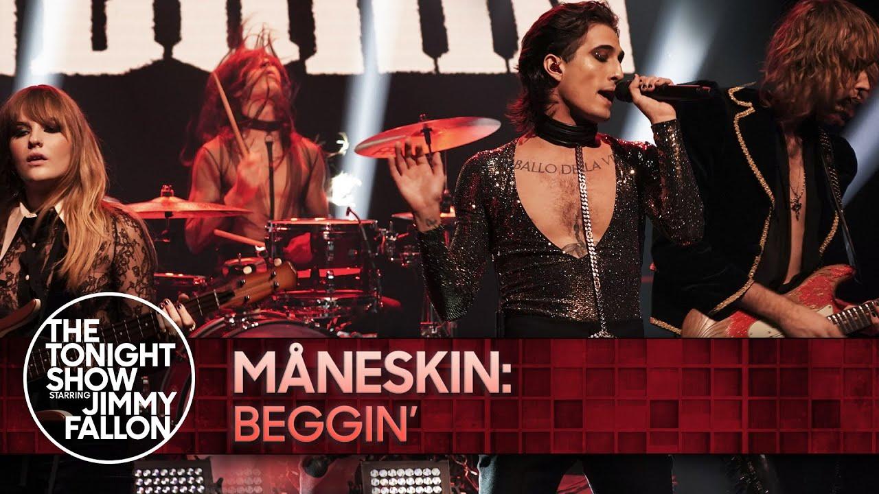 Måneskinが初出演した米人気テレビ番組から「Beggin'」「MAMMAMIA」のパフォーマンス・ビデオが公開