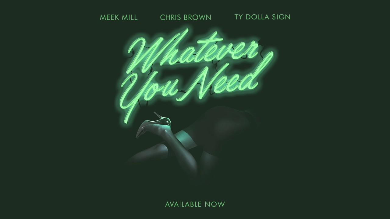 Meek Mill ft. Chris Brown & Ty Dolla $ign「Whatever You Need」の洋楽歌詞・YouTube動画・解説まとめ