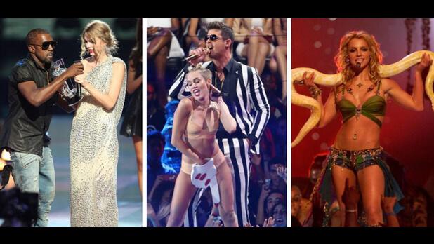 もうすぐ洋楽アーティストたちの祭典MTV・ビデオ・ミュージック・アワード(MTV VMAs)が開催 − 過去におきた授賞式での伝説的な名シーンを一気におさらい!